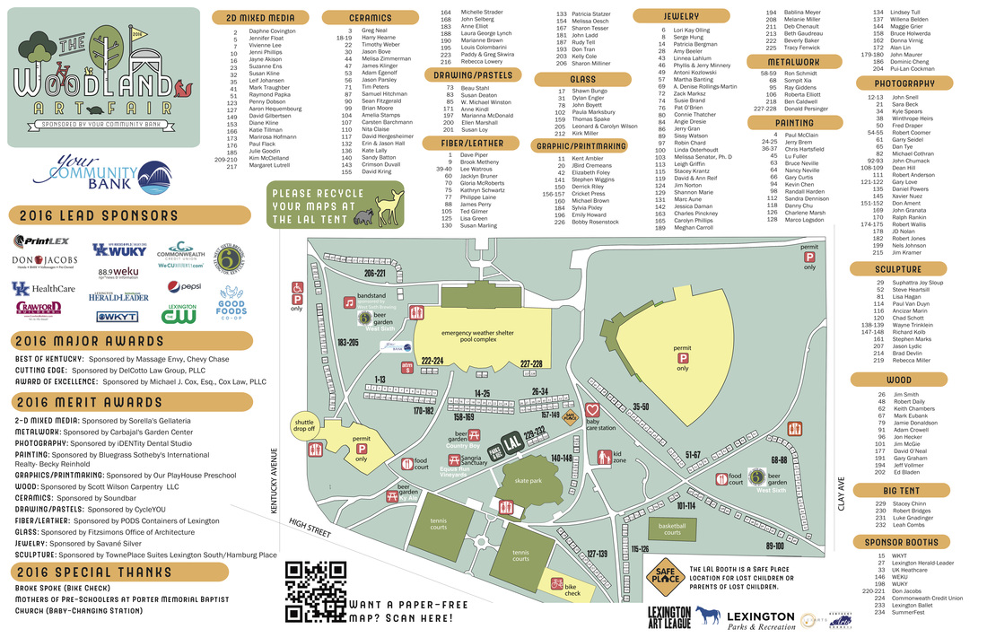 Woodland Art Fair Map Lexington Art League